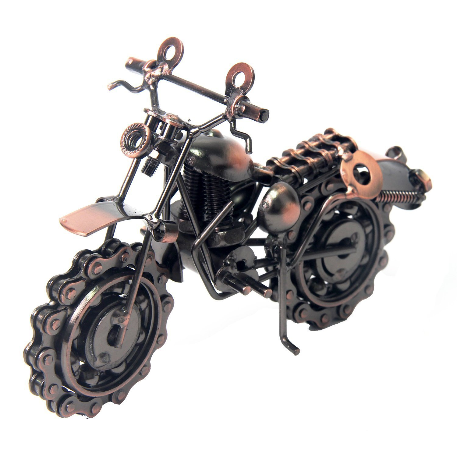 lanbing Classic Handmade Wrought Iron Motorcycle Model Collectible Art Sculpture Motorbike For Home Decor Creative Desk Table Decoration Ornaments Toys Gifts (A21)