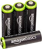 AmazonBasics AA Pre-Charged Rechargeable Batteries 2000 mAh/minimum: 1900 mAh [Pack of 4] - Outer Jacket May Vary