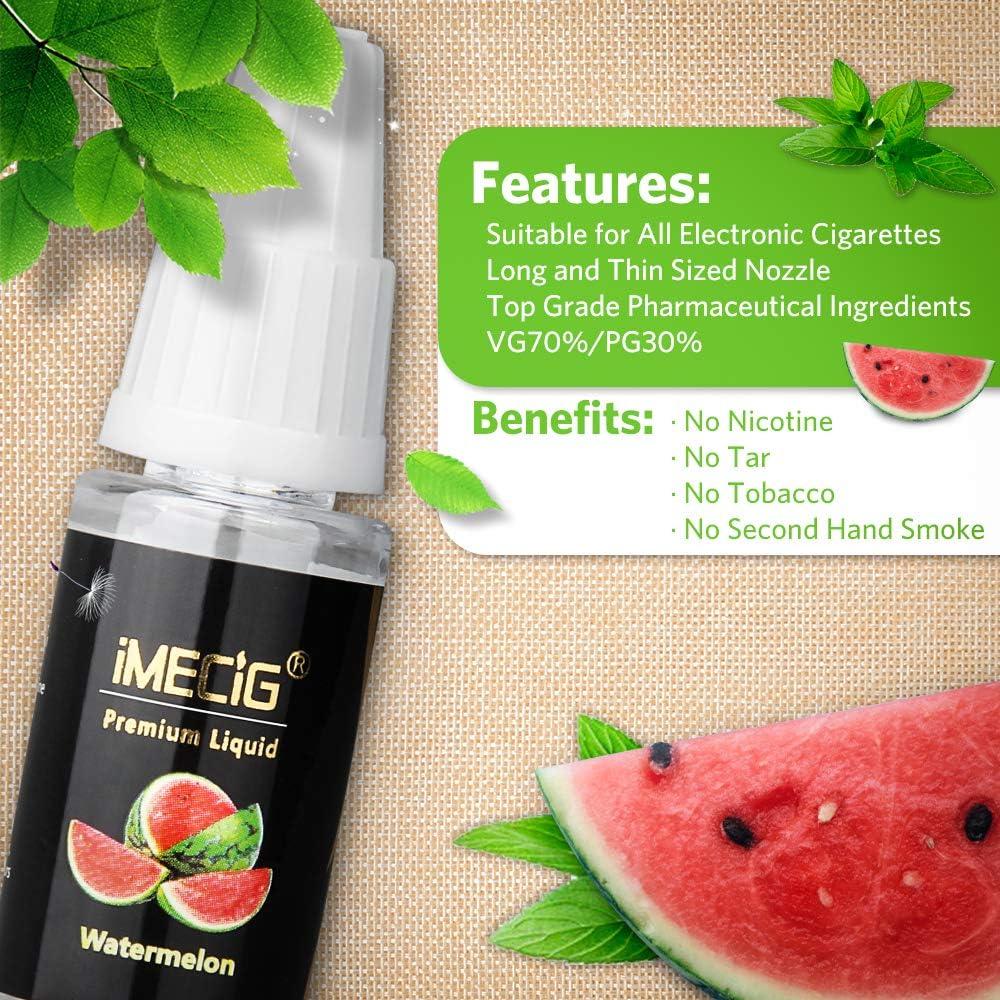 IMECIG® E-Líquido 5x10ml para E-Cigarrillo E-Shisha de Sabor ...