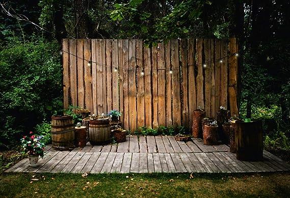 Guirnalda de Madera para jardín de 7 x 1,5 m, diseño rústico de ...