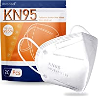 Hotodeal KN95 Face Mask 20 PCS,5 Layers Cup Dust Mask Against PM2.5 from Fire Smoke, Dust, for Men, Women, Essential…