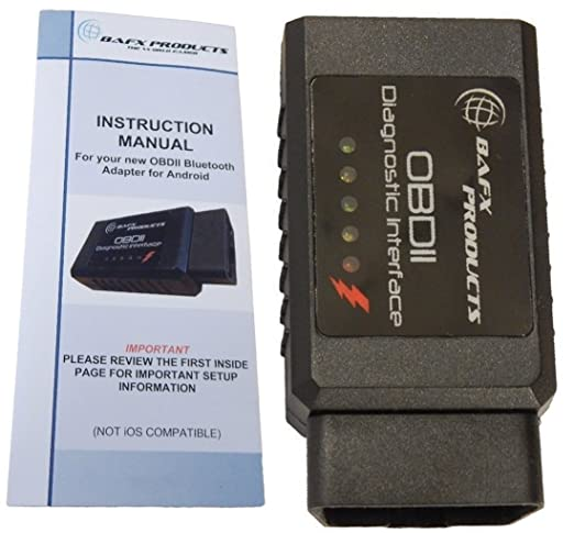 BAFX is an OBD2 scanner that performs diagnostics on your vehicle's engine and provides with instant results