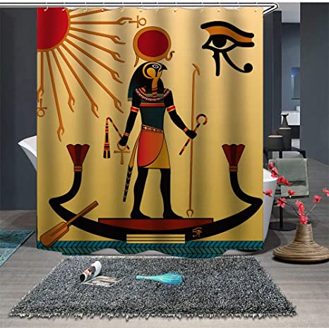 Amazon Com Ekaliy African Waterproof Shower Curtains Bathroom Decorations Afrocentric Starry Red 71 79 Home Kitchen