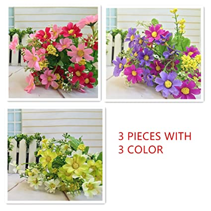 Amazon Raylinedo 3 Bunches Of Cineraria Artificial Flower