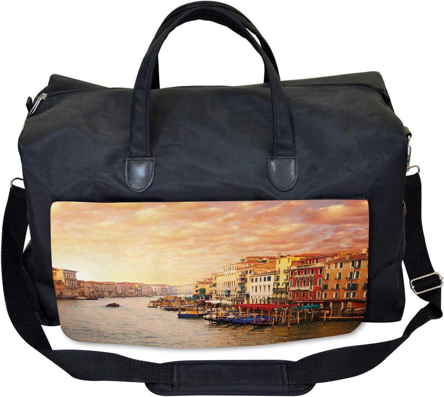Ambesonne Scenery Gym Bag Large Weekender Carry-on Italian Venezia Image