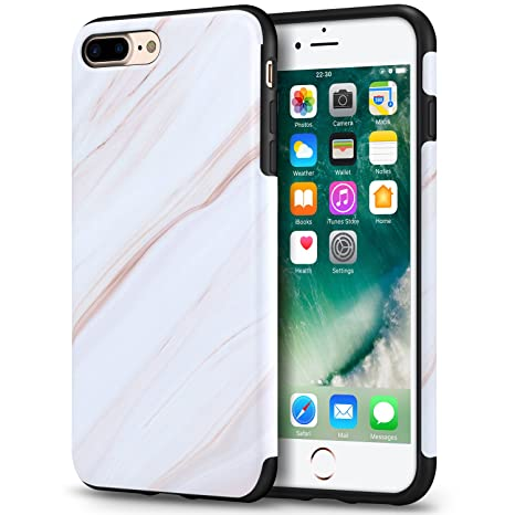 coque iphone 8 plus marbre blanc