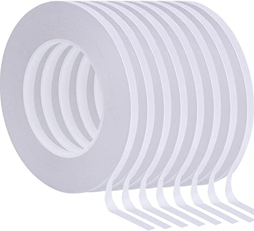 2 x Rolls DOUBLE SIDED STICKY TAPE CRAFT ADHESIVE 1 x 6MM Roll /& 1 x 12MM Roll.