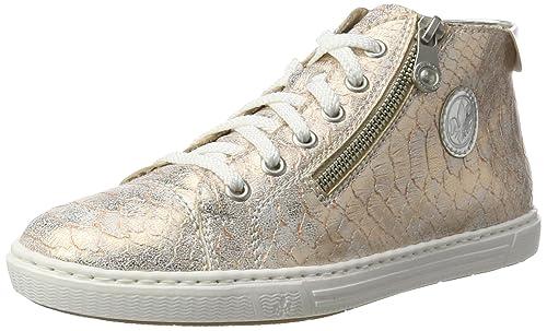 43ea46784fa2 Rieker L0934, Women s Hi-Top Sneakers, Multi-Colored (Rose Argento