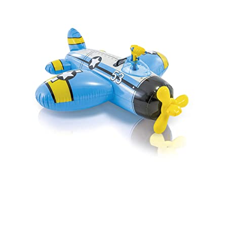 Intex Figura Avion Hinchable (132X130 CMS) con Pistola Lanza Agua, Multicolor (57537NP) , Modelos/colores Surtidos, 1 Unidad