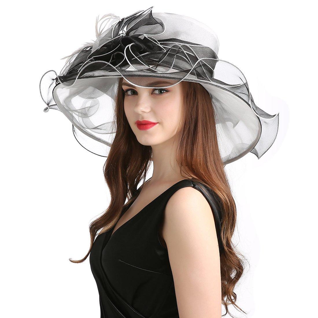 Women's Organza Church Derby Fascinator Cap Kentucky Tea Party Wedding Hat by MissCynthia