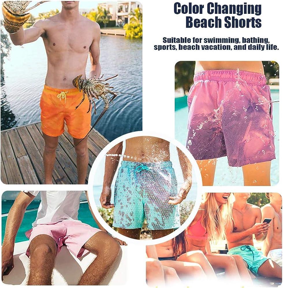 Cambia Colore Pantaloncini da Bagno da Spiaggia da Uomo Nuoto Festa DOTBUY Estate Asciugatura Rapida Pantaloncini Nuoto Costume da Bagno per Sport Surf