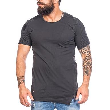 Redbridge by Cipo&Baxx Herren T-shirt Gerippt im Asymetrischem ...