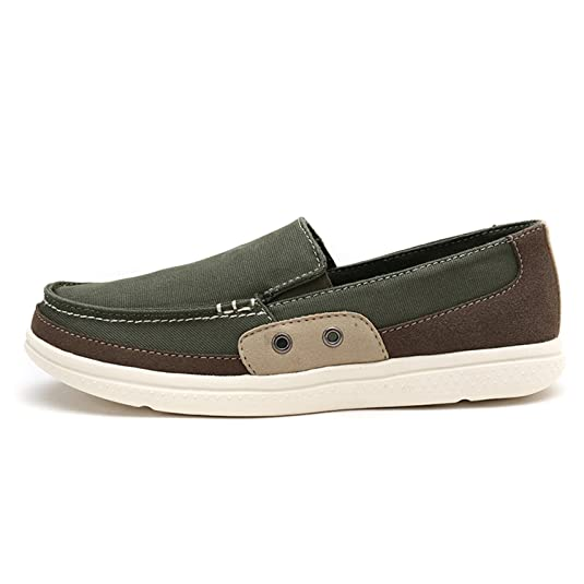 Amazon.com | Surprising Day New Male Washed Denim Casual Doug Peas Slip on Shoes Foot Pedal Shoes Lazy Fashion Canvas Flats Driving Loafer Zapatos Hombre ...