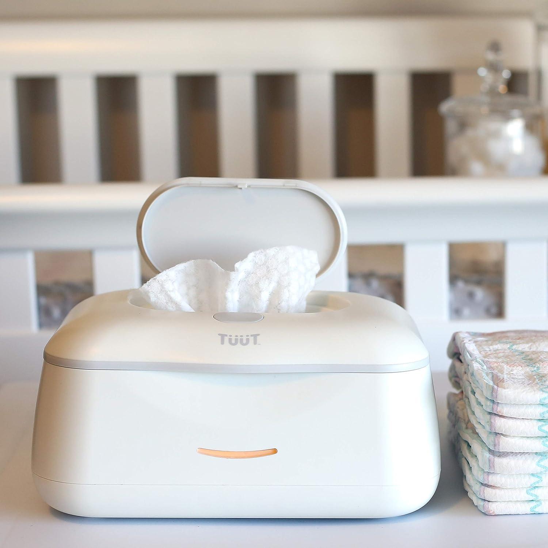 Baby Wipe Warmer & Wipes Dispenser - Sleek Diaper Wipes Holder for Boys and Girls - Tuut
