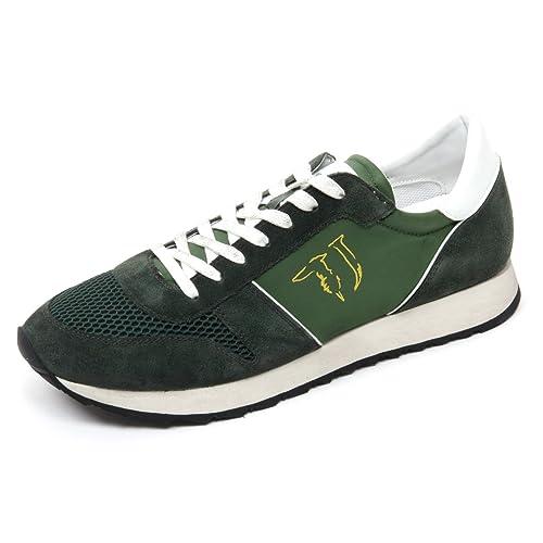 Trussardi B8568 Sneaker Uomo Jeans Scarpa Running Verde Shoe Man  40    Amazon.it  Scarpe e borse eca7802944c