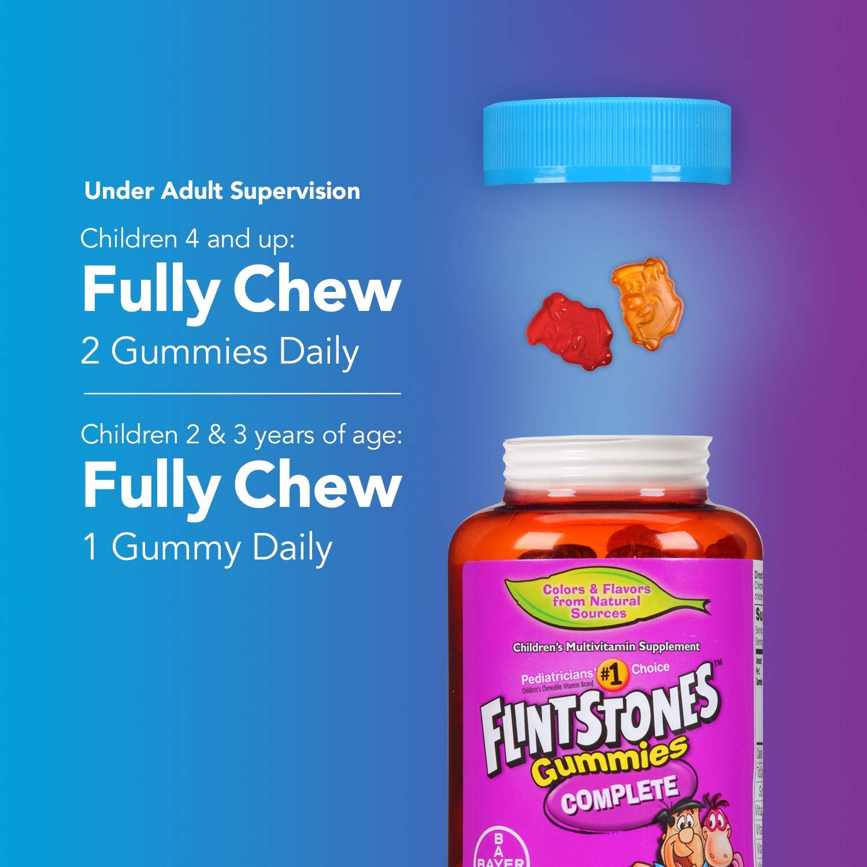 Picapiedra niños completa de multivitaminas masticables tabletas: Amazon.es: Salud y cuidado personal
