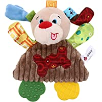 Toddmomy Baby Plush Interactive Stuffed Toy Puppy Teething Toys Soothing Sleeping Vibrating Educational Sensory…