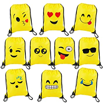 MaoXinTek Bolsas de Cuerdas Emoji Dibujos Animados Mochila ...