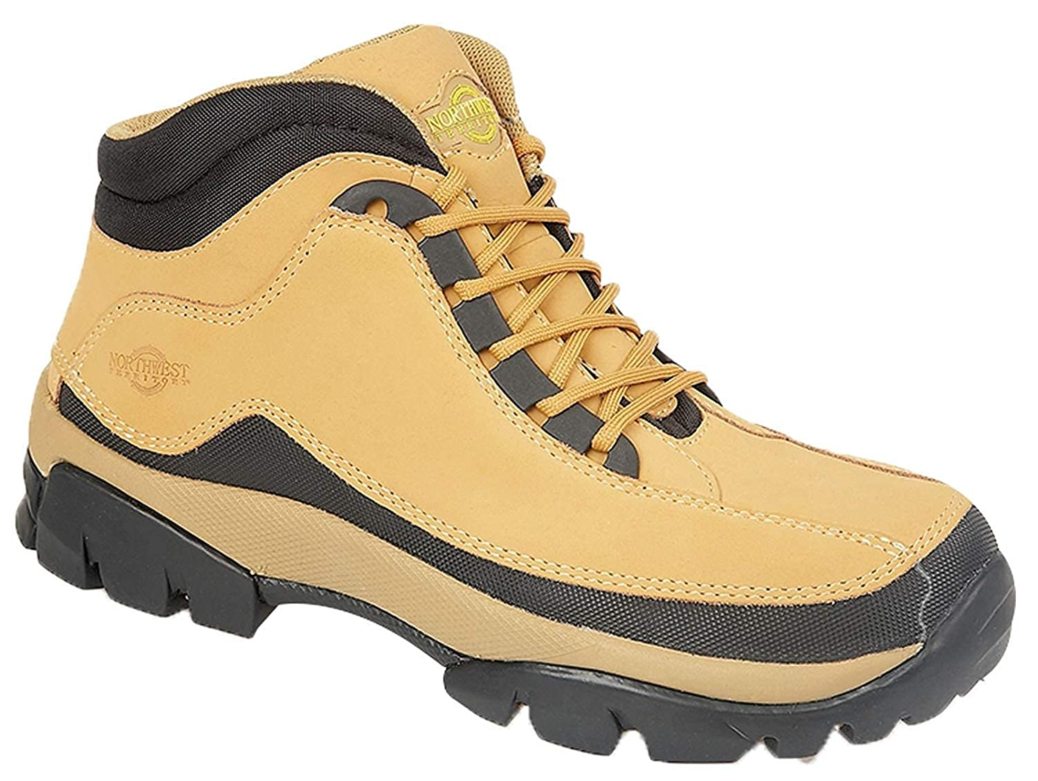 Northwest Territory Mens Nubuck Leather Lace Up Safety Boots