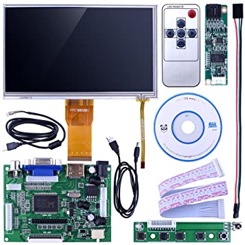 Kuman SC7H 7 inch LCD Touch Screen Display 1024x600 for