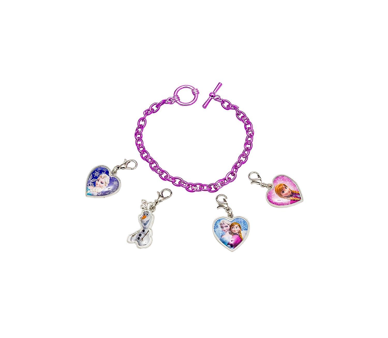 Disney 755733 - Frozen Armband mit 4 Verschiedenen Anhängern zum Anmachen 12 x 2.5 x 20 cm Joy Toy AG FZ733