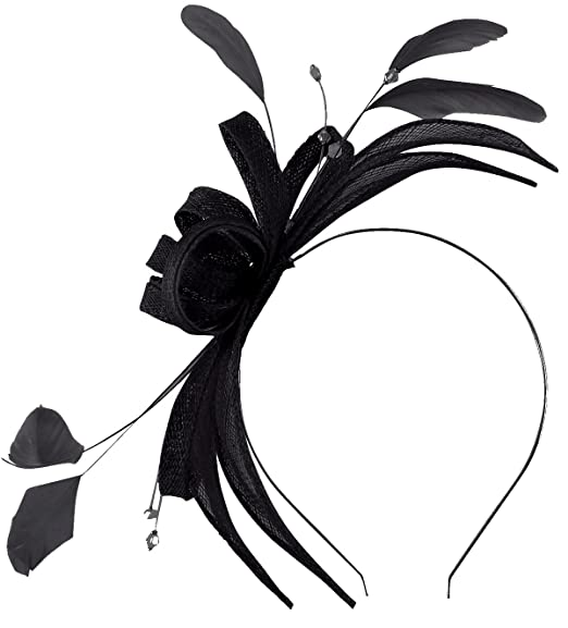 21251500 Failsworth Millinery Sinamay Fascinator in Navy, size: One Size ...