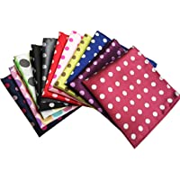 MENDENG Men's Assorted Cotton Polka Dots Pocket Square Handkerchief