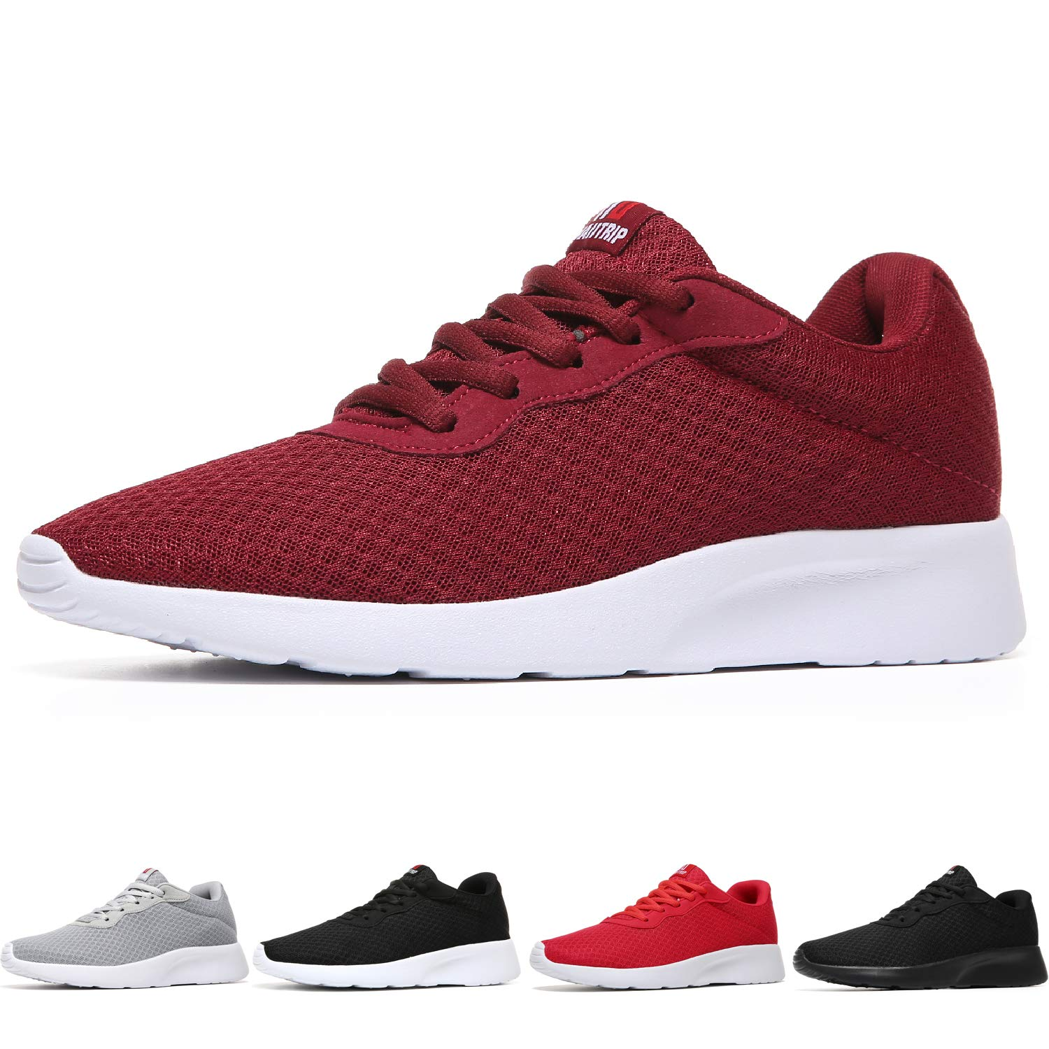MAIITRIP Men's Running Shoes Sport Athletic Sneakers,Claret Red,Size 7