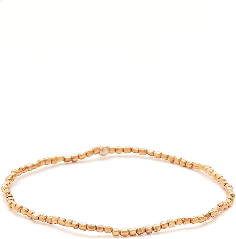 Nisolo Tiny Brass Bead Bracelet