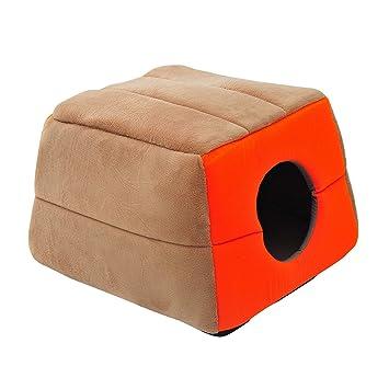 Pawhut Cama para Gatos Crema y Naranja Lona 41x41x32cm: Amazon.es: Productos para mascotas