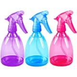 Pack of 3 - 12 Oz Empty Plastic Spray Bottles - Attractive Vibrant Colors - Multi Purpose Use Durable BPA Free Material