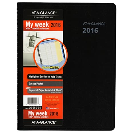amazon com at a glance quick notes weekly monthly appointment book