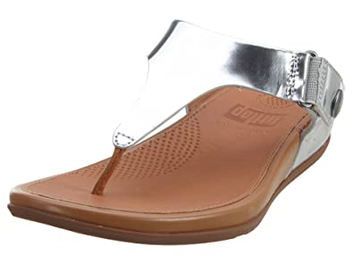 59a718c8038 Image Unavailable. Image not available for. Colour  FitFlop Gladdie  Toe-Post Metallic Silver UK 6 ...