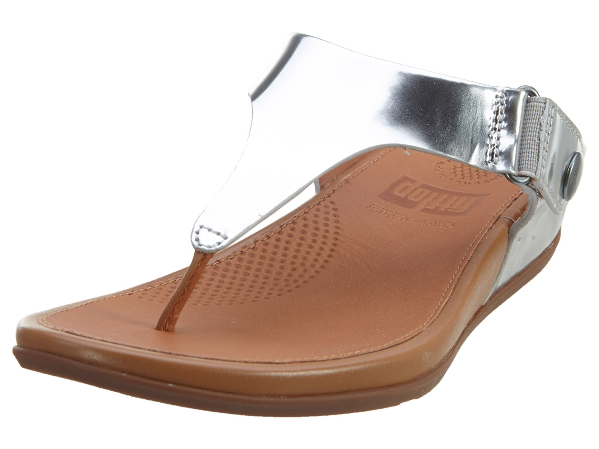 FitFlop trade; Gladdie™ Metallic Toe-Post Sandal Silver Size 6