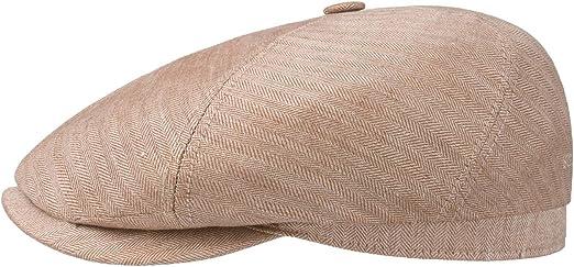 Made in The EU Schieberm/ütze mit Schirm Futter Fr/ühling-Sommer Stetson Brooklin Zigzag Flatcap Schirmm/ütze Leinencap Baumwollcap Herren Futter