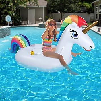 Flotador inflable de la piscina del unicornio, piscina al aire libre Flotador salón de la