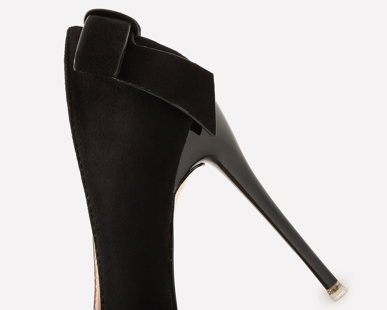 18a71934d05b0 Boda Zapatos Para Mujer Ante Tacones altos Dulce Bowknot Stiletto Fiesta  Zapatos de tac ó n De BIGTREE