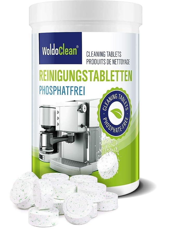 WoldoClean Pastillas de limpieza sin fosfatos para cafeteras ...
