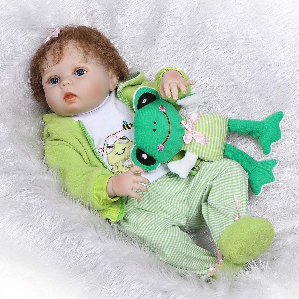 chinatera NPK Waterproof Lovely Soft Silicone 3D Lifelike Simulation Reborn Baby Doll Kids Playmate Doll Toys Gifts by chinatera (Image #3)