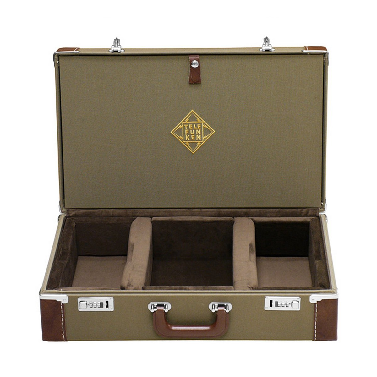 TELEFUNKEN Elektroakustik FC40S | Combination Locking Flight Case Fits U47/U48 STUDIO and STEREO Set