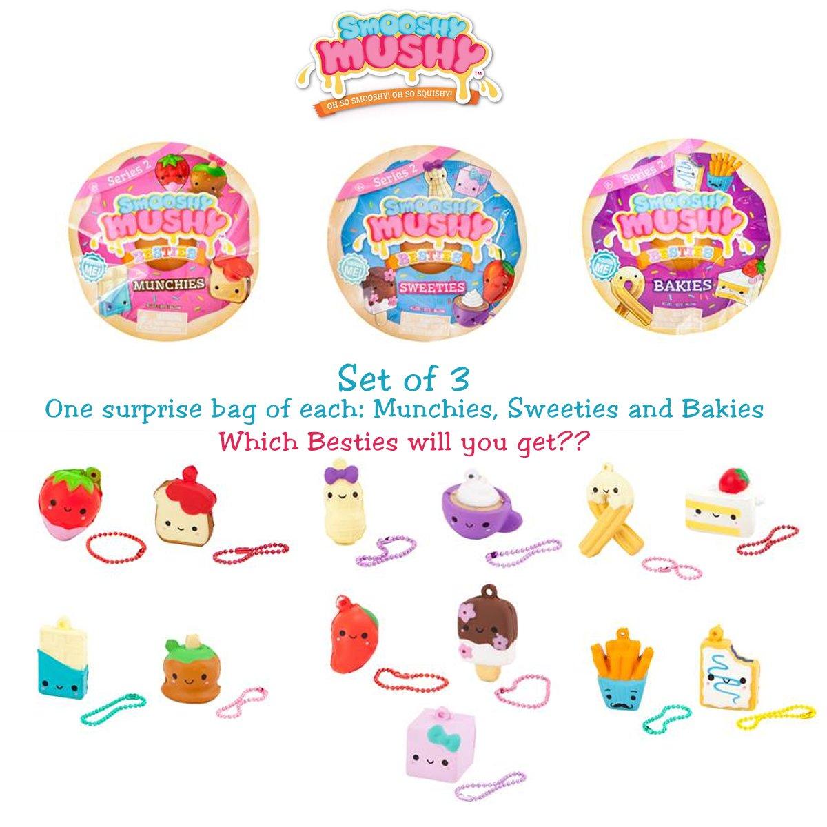 1 each of Munchies Set of 3 Bakies and Sweeties SG/_B07C7JS7RY/_US Smooshy Mushy Besties Series 2