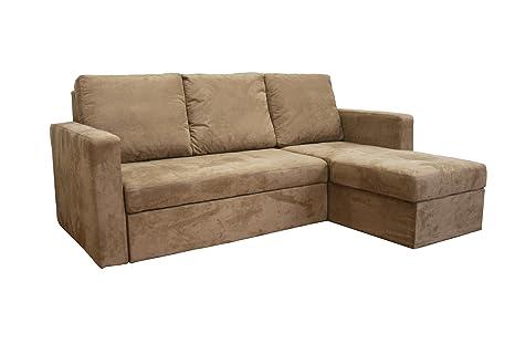 Amazon.com: Linden Tan Convertible Seccionales/sofá cama de ...