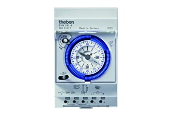 Schema Collegamento Orologio Theben : Theben interruttore orario analogico con programma giornaliero