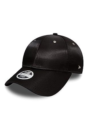 7b40c27d1573c New Era Cap - New Era Women Premium Black 9Forty Baseball Cap - Adjustable  - Satin