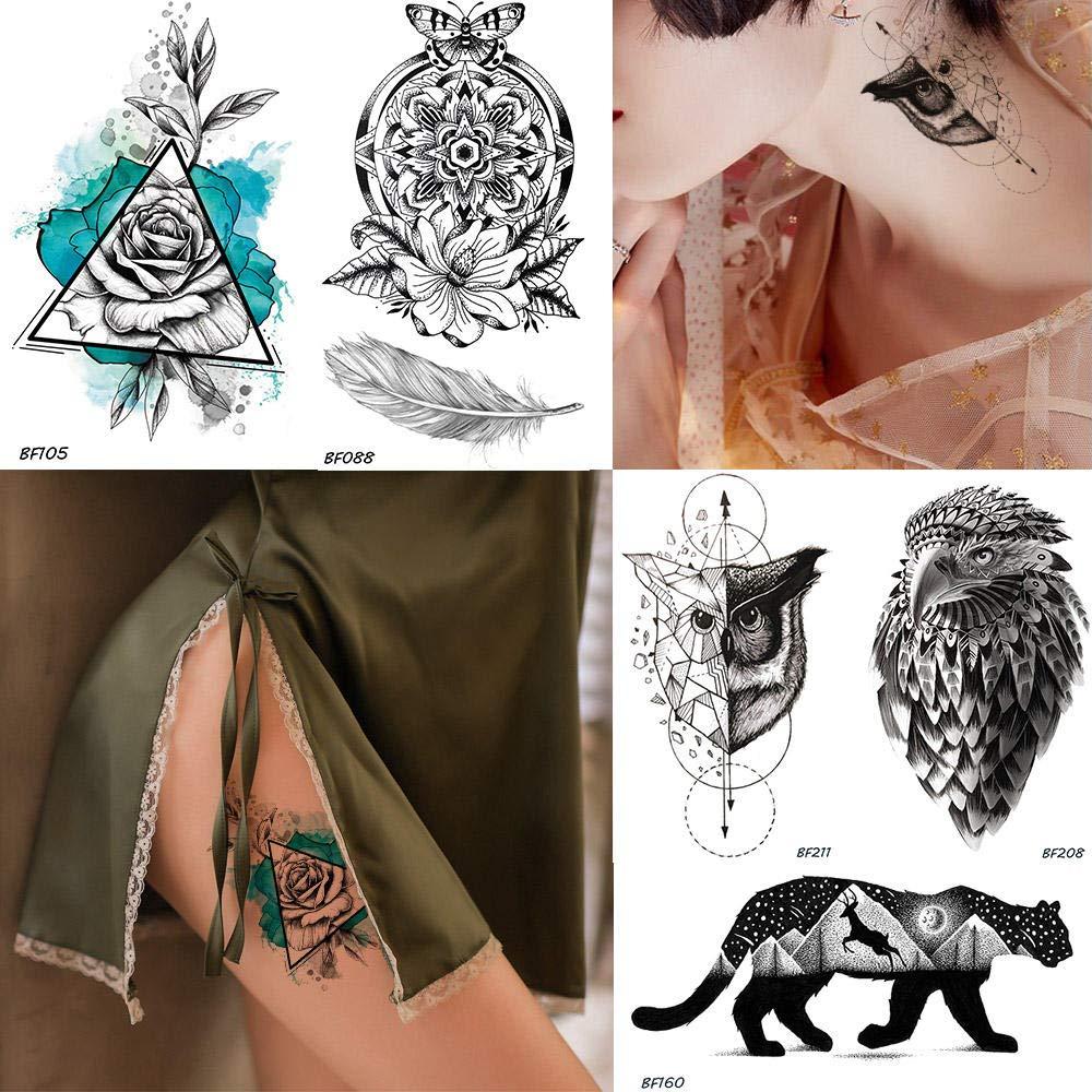 Tatuajes Temporales Niños Unicornio Mujeres Sexy Flor De La Pluma ...