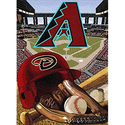 MAXFYOU Wood Puzzle 500 Piece - Jigsaw Puzzle for Adult and Kids - American Baseball Teams Wooden Puzzle.3ML-PT05-G1: Toys & Games