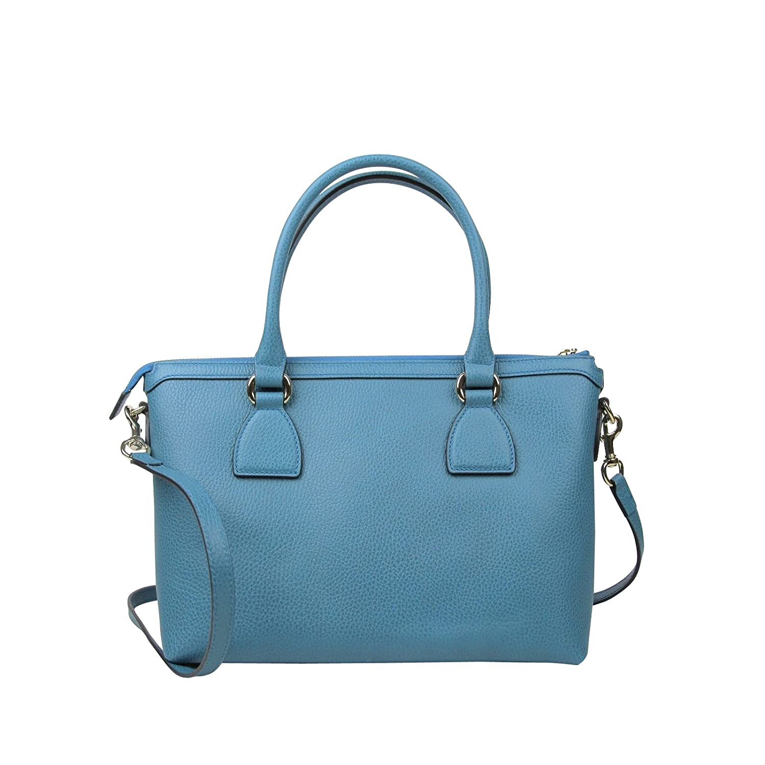 6a4938f45fa2 Amazon.com: Gucci GG Charm Teal Blue Leather Medium Convertible Straight Bag  With Strap 449659 4618: Shoes