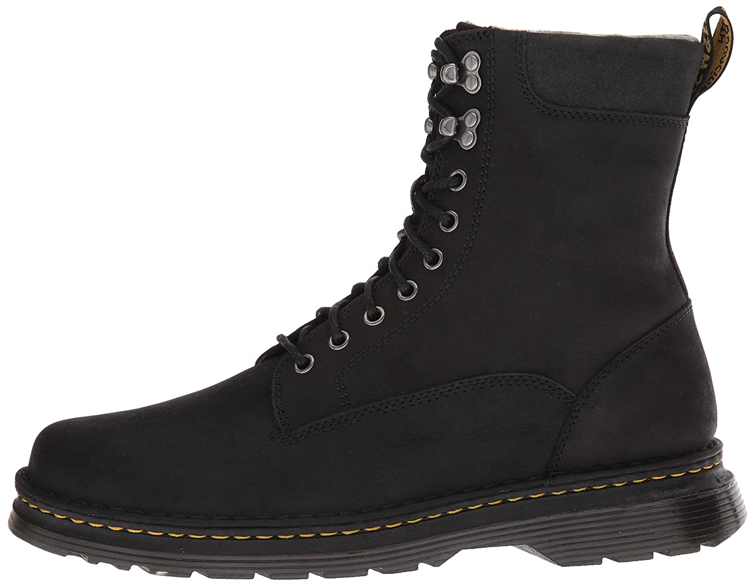 Dr. Martens Men's Vincent Hook Mid Calf Calf Calf Stiefel, schwarz, 6 M UK (7 US) 338648