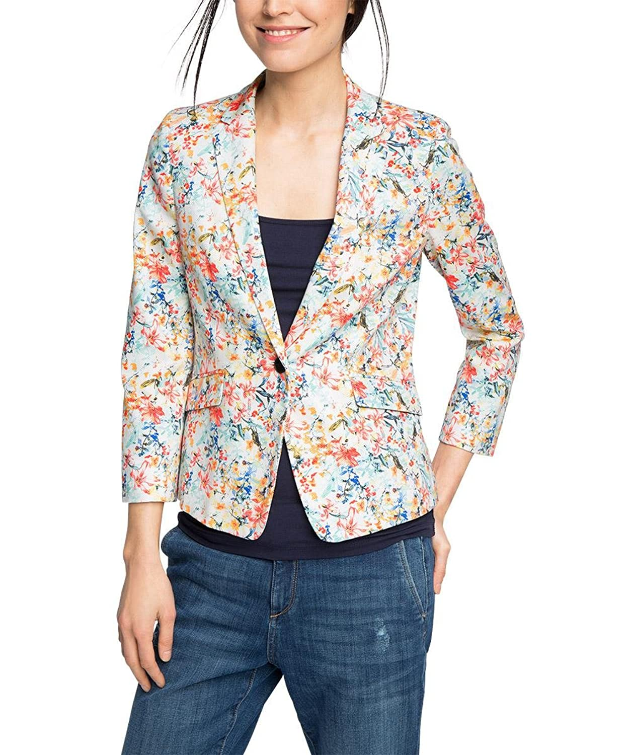 ESPRIT Collection Damen Blazer 046eo1g008-mit Stretch
