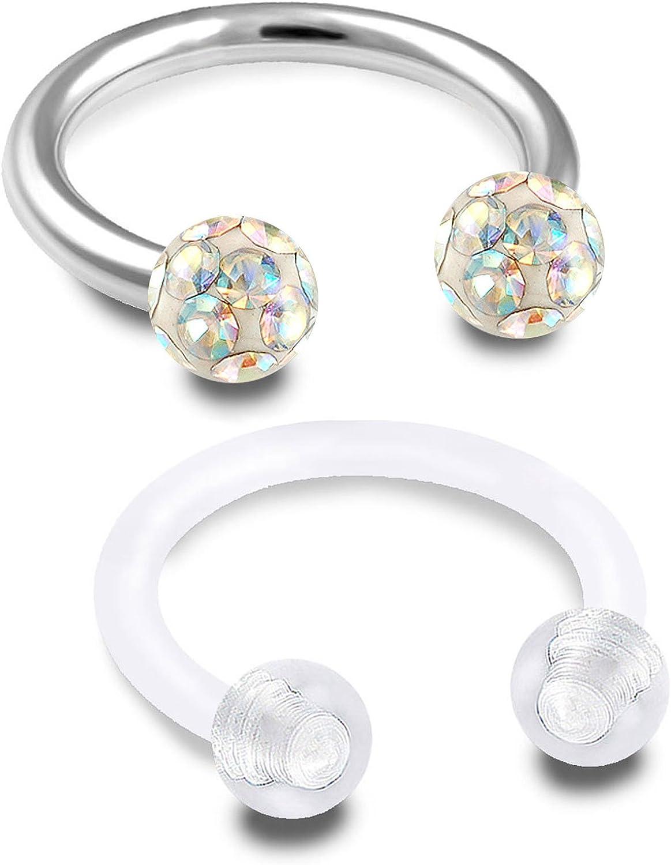 1 pcs helix lobe screw behind round circle5mm 7 mm titanium mini chiseled triangle diament oxyde de zirconium minimaliste g\u00e9om\u00e9trique Stud